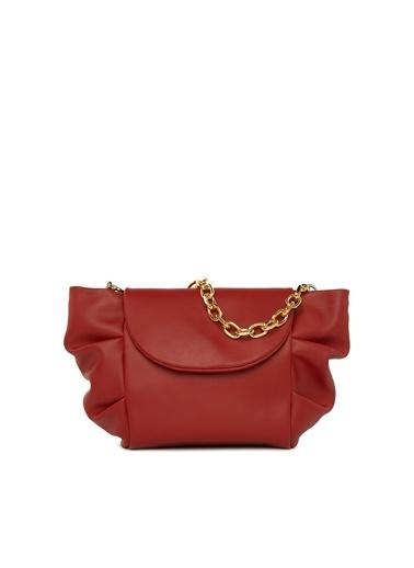 Bagmori Kadın Yandan Pilili Askılı Çanta M000005128 Kırmızı